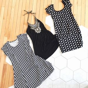 Dresses & Skirts - Black & white dress bundle